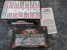 DOUBLE 12 DOMINOES GAME ROOM ETON DOMINOES ARE STILL IN SHRINK WRAP IN TIN