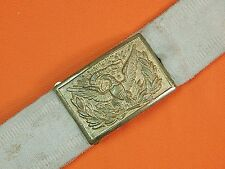 US Spanish American War White Canvas Militia Belt w/ Buckle
