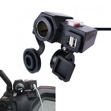 Motorcycle 2.1A Phone Waterproof Cigarette Lighter Dual USB Power Socket Charger