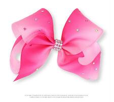 New Jojo Siwa Fashion Girls Rainbow Multi Coloured Ribbon Hair Bow Clip Gift -Q9