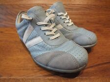 Ecco Active Tie  Light Blue Leather Casual Trainers  Size UK 3.5 EUR 36