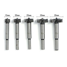 5Pcs HSS Forstner Hinge Woodworking Hole Saw Cutter Auger Drill Bit Tool 15-35mm
