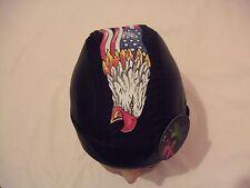 New Black with US Flag and Eagle PU & Cotton  Shaped Bandana / Zandana