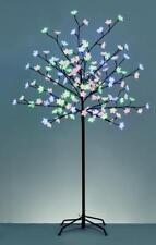 180cm Blanc Cerise Arbre Sapin de Noël en / Extérieur 150 Multicolore LED