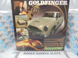 "Scalextric C3091a ""Goldfinger"" James Bond 007 Aston Martin ""1st of 3""   BNIB"