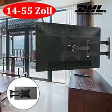 TV Fernseher Wandhalter Wandhalterung LCD LED 14-55 Zoll Neigbar Schwenkbar DE