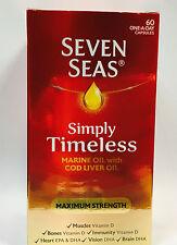 Seven Seas puro aceite de ricino Extra Alta Resistencia - 60 Cápsulas