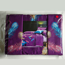 Quilt Cover Set Cotton Embroidered Crafted Quilt Cover Sheet 2 Pillow Cases KING