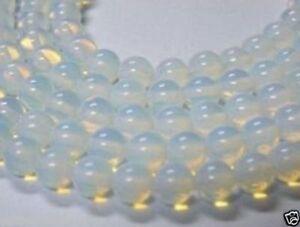"""4mm-14mm Sri Lanka Natural Moonstone Round Gemstones Loose Beads 15"""" AAA"""