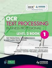 OCR Text Processing (Business Professional): Text Production, Word-ExLibrary