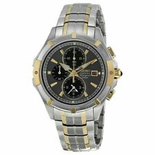 Seiko SNAE56 Men's Coutura Chronograph Gray Dial Two-Tone Stainless Steel Watch