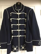 CHANEL 09P NEW Most Wanted Navy PEARL JACKET CUFFS PEARL CC buttons FR50-FR44