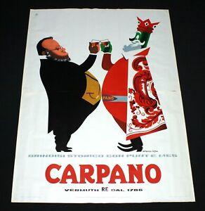 CARPANO CAVOUR poster manifesto Armando Testa Liquor Toast Risorgimento K3