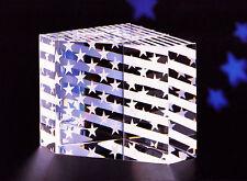 ORIGINAL NEW in BOX STEUBEN glass STARS STRIPES USA paperweight PRISM flag glory