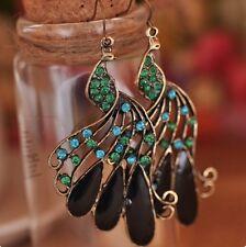 Crystal Peacock Earrings Boho Body Jewellery Piercing Bohemian Gypsy Ethnic A157