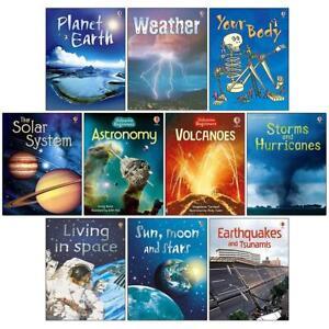 Usborne Beginners Science 10 Books Collection Set Inc Sun, Moon and Stars