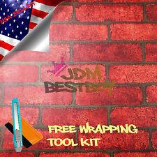 "*48""x300"" Red Brick Stone Textured Vinyl Background Wall Sticker Wallpaper KB14"