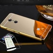Pare-chocs en aluminium de 2 pièces doré + 0,3 H9 verre pour Sony Xperia XA2
