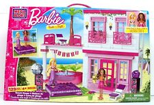 Barbie Mega Bloks Beach House Build 'N Style Model # 80226 129 Pc.