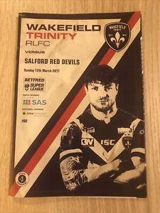 Wakefield Trinity RLFC v Salford Red Devils Programme 12/03/2017