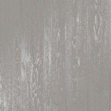 finedecor Papier peint - Mezzanine panneau en bois - Argent métallique effet -