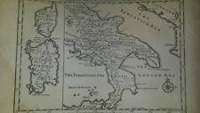 CORSICA SARDEGNA-SUD ITALIA- Delisle-incisione ORIGINALE del primo settecento