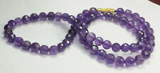 164.40 CT NATURAL AMETHYST TOP QUALITY TRANSPARENT PURPLE BEAUTIFUL NECKLACE