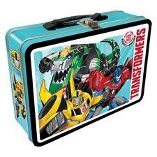 Transformers NEW * Metal Fun Tote * Bumblebee Optimus Prime Tin Lunch Box