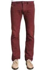 NWT $258 Diesel Mens Safado Jeans Reg Slim Straight 801D Bordeaux 29X30 EU 26