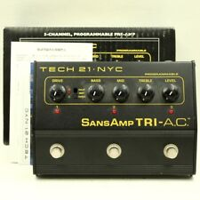 Tech21 SansAmp Tri Ac Programmable Distortion Guitar effect pedal (758938)