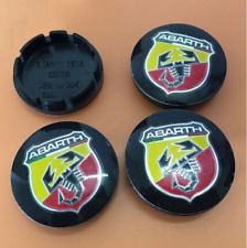 4pcs 56mm Abarth Logo Car Wheel Rim Center Hub Caps Covers Fit Alfa Romeo Fiat