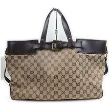 Gucci Hand Bag  Browns Canvas 913889