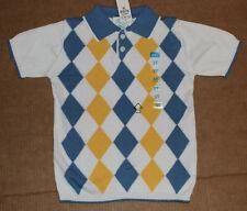 3t Nwt The Children's Place White Argyle Sweater Polo Top Boys 3