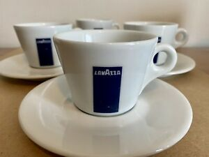 Lavazza Cappuccino Cup & Saucer – Set of 4 Cups and Saucers 3oz (100ml)