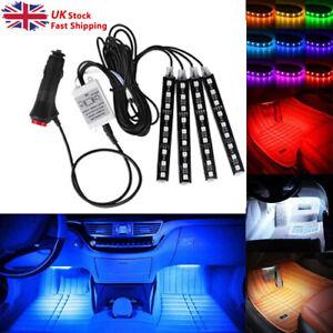 RGB LED Car Interior Accessories Floor Decorative Atmosphere Strip Lamp Lights