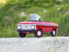 1993 Fully Restored MOSKVICH Child Kid Red Metal Pedal Car Russian Gr. Condition
