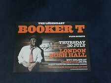 BOOKER T SIGNED POSTER