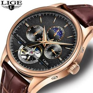 Relogio Masculino LIGE Sports Mens Watches Top Brand Luxury Automatic Watch Men