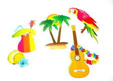 HAWAII DECORAZIONE SET 4 pz. partydeko Festa in spiaggia rigida PARTY PALMA