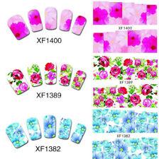 Boho Nail Art Wraps Water Flowers Vintage Flowers Watercolour Transfers Decals