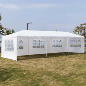 3x9M Five Sides Portable Home Use Waterproof Tent with Spiral Tubes party White