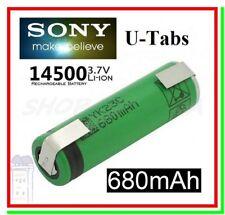 Batteria Pila Litio Ricaricabile SONY 14500 VR2 680mAh 10A Lamelle Saldare a U