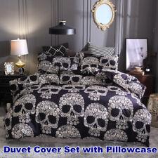 Skull Duvet Doona Quilt Cover Set Gothic Bedding Set Single Double Queen King