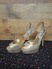 Steve Madden Nairi Gold Multi Women's Heels Shoes Size 8 NWB Without Lid