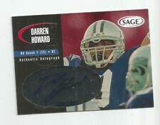 2000 SAGE RED DARREN HOWARD AUTO #d 334/999 NEW ORLEANS SAINTS