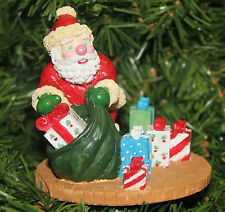 Traditions Vintage 1993 Santa With Gifts Figure Figurine Hand Painted & Detailed