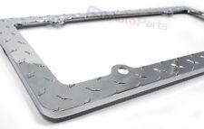 Chrome Diamond Plate Custom Metal License Plate Frame for Auto-Car-Truck-SUV