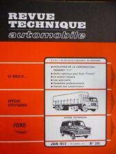 RTA revue technique 314 FORD TRANSIT - PEUGEOT J7