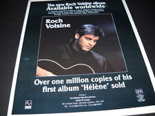 Roch Voisine 1991 Promo Poster Ad the new album available worldwide Mint Cond