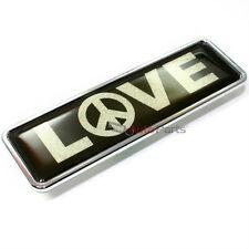 Premium Love Peace Sign Chrome Emblem for Car-Truck-Bike rear trunk side fender